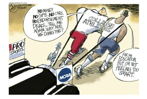 issues over paying college athletes The risk is that paying salaries to student athletes in a few high-profile sports will open the door to title ix compliance problems, especially if comparable compensation is not given regardless of gender.